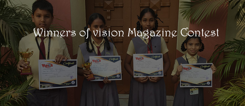 Winners of vision Magazine Contest