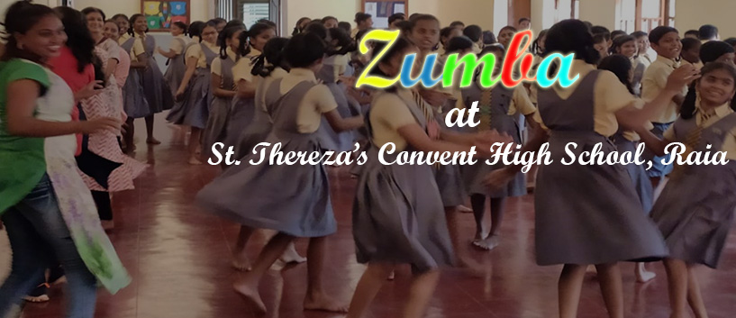 Zumba at St. Thereza's Convent High School, Raia