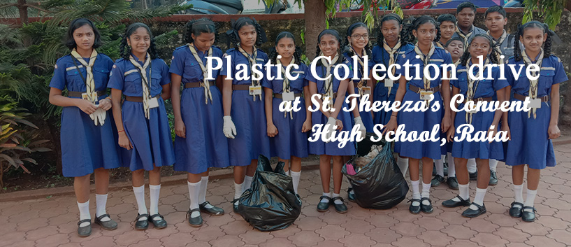 """Plastic Collection drive"" at St. Thereza's Convent High School, Raia"